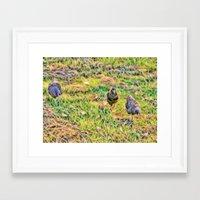 Hens On The Farm Framed Art Print