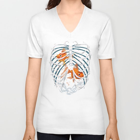 Life and Death V-neck T-shirt