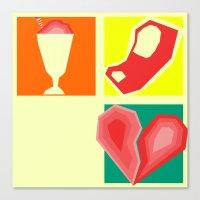 Milkshakes, Steaks, and Heartbreaks Canvas Print
