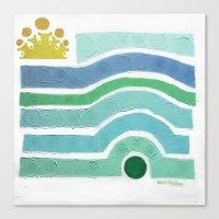 :: Princess n' Pea (Mint) Canvas Print