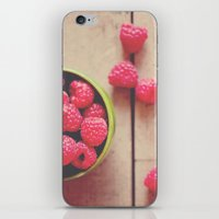 there is something in the red of a raspberry ...  iPhone & iPod Skin