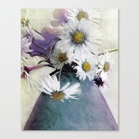 Daisies And Buttercups -… Canvas Print