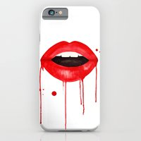 lips iPhone & iPod Cases featuring lips by KASAMONART