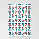 Number Stationery Cards