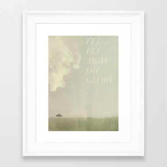 I'll Fly Away  Framed Art Print