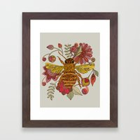 Bee Awesome Framed Art Print