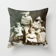 Throw Pillow featuring Why Do You Look So Sad by Kiki Collagist