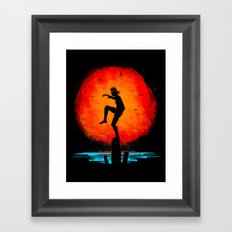 Minimalist Karate Kid Tr… Framed Art Print