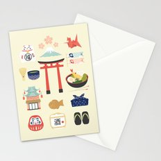 Japan Icons Illustration : PAST Stationery Cards