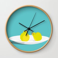 A Pear of Birds Wall Clock