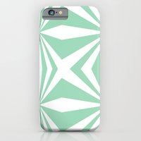 iPhone & iPod Case featuring Mint Starburst #2 by Project M