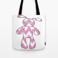 Button Bunny Tote Bag