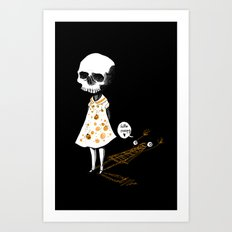 hello creepy Art Print