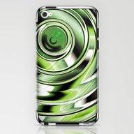 Abstract Circle Green iPhone & iPod Skin