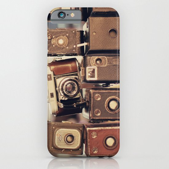Old Cameras (Vintage and Retro Film Cameras Collection) iPhone & iPod Case