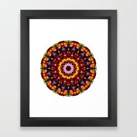 Pansy Kaleidoscope Framed Art Print