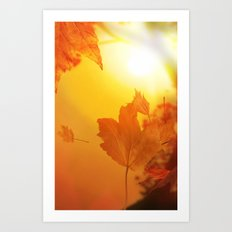 Lief of autumn Art Print