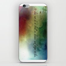 V2:It does not do to dwell on dreams iPhone & iPod Skin