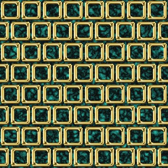 Golden frames pattern Art Print
