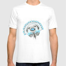 Blu(m)e White Mens Fitted Tee SMALL