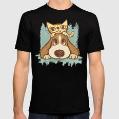 Dog Mens Fitted Tee Black SMALL