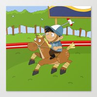 Non Olympic Sports: Polo Canvas Print