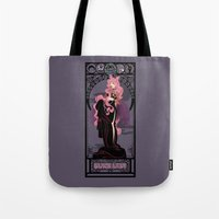 Black Lady Nouveau - Sai… Tote Bag