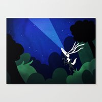 Canvas Print featuring What they're seeing by Doc Diventia