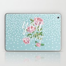 You are my happy- Watercolor illustration & Typography Laptop & iPad Skin