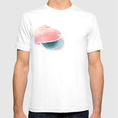 Shell II. Mens Fitted Tee SMALL White