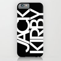 iPhone & iPod Case featuring Classic : Jack Kirby Black  by Futurism_