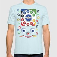Retro Vintage Smiley Kid… Mens Fitted Tee Light Blue SMALL
