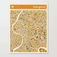 BANGKOK MAP Canvas Print