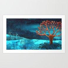 PAISAJE AZUL Art Print