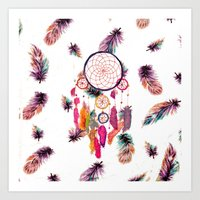 Hipster Watercolor Dream… Art Print