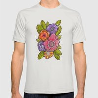 Garden Fauxtanical 1 Mens Fitted Tee Silver SMALL