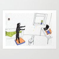 In The Virtual Reality S… Art Print