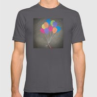 Up up and away Mens Fitted Tee Asphalt SMALL