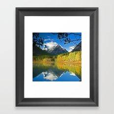 lake snow Framed Art Print