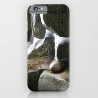 iPhone & iPod Case featuring Rocky water fall by Bret Caiazzi