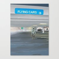 Flying Cars To The Right Canvas Print