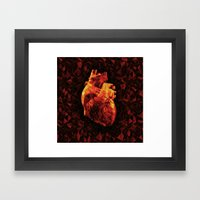 Geometric Heart Framed Art Print