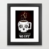 No Coffee No Life Framed Art Print