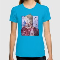 Fortuna | Collage Womens Fitted Tee Teal SMALL