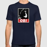 OBI Mens Fitted Tee Navy SMALL