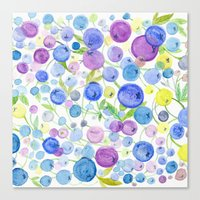 Blueberries' Dream Canvas Print