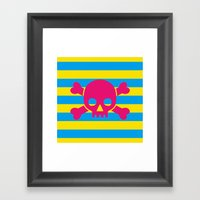 Summertime Pirate Framed Art Print