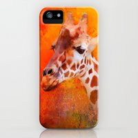 iPhone Cases featuring Colorful Expressions Giraffe by Jai Johnson
