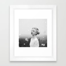 Snowing Framed Art Print