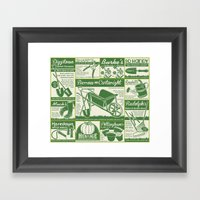 Gardening Tool Advertisi… Framed Art Print